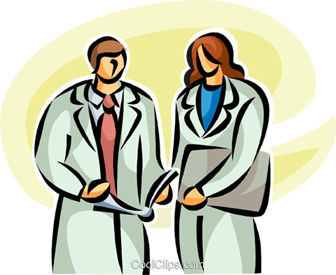 doctors Royalty Free Vector Clip Art illustration vc063201