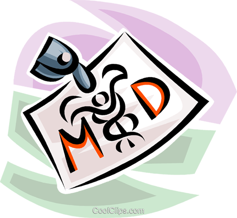 medical doctor's badge Royalty Free Vector Clip Art illustration vc063218