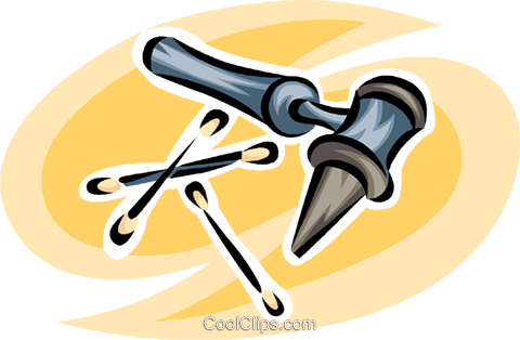 ear examining tools Royalty Free Vector Clip Art illustration vc063220