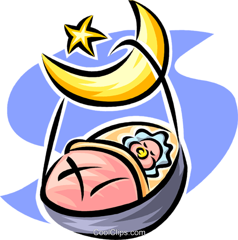 sleeping baby Royalty Free Vector Clip Art illustration vc063231