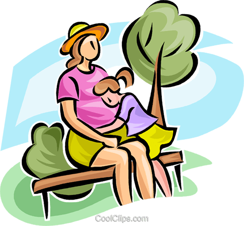 pregnant woman with a young child Royalty Free Vector Clip Art illustration vc063233