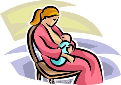Pregnancy and Newborn Babies Royalty Free Vector Clip Art illustration vc063258