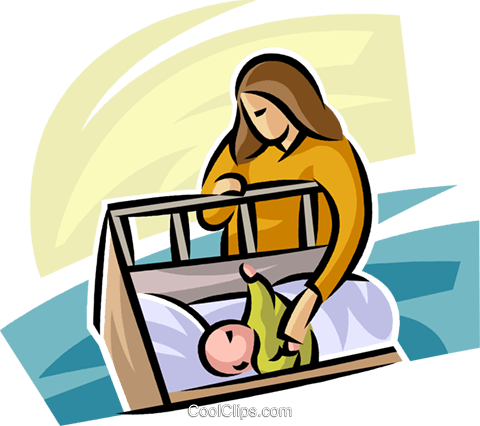 Pregnancy and Newborn Babies Royalty Free Vector Clip Art illustration vc063260