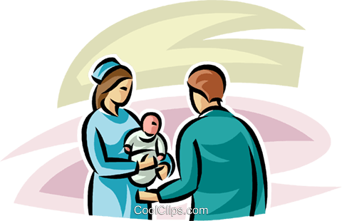 Pregnancy and Newborn Babies Royalty Free Vector Clip Art illustration vc063265
