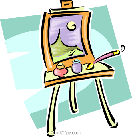 easel Royalty Free Vector Clip Art illustration vc063277