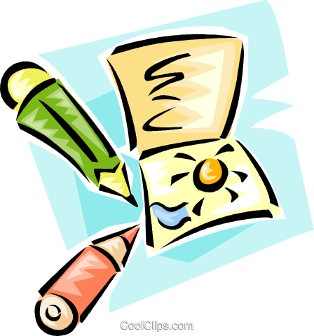 colored pencils Royalty Free Vector Clip Art illustration vc063279