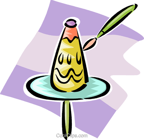 painting a vase Royalty Free Vector Clip Art illustration vc063281