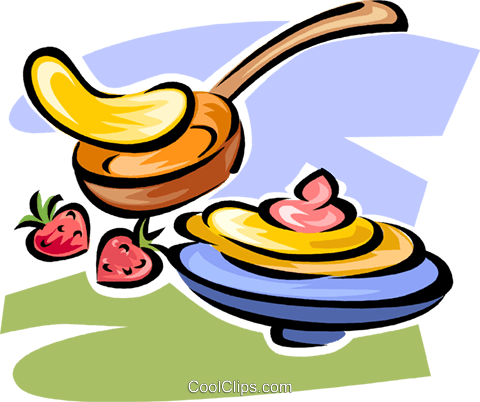 pancakes Royalty Free Vector Clip Art illustration vc063293