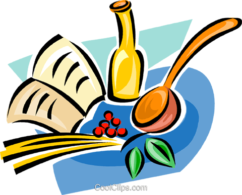 cooking supplies Royalty Free Vector Clip Art illustration vc063295