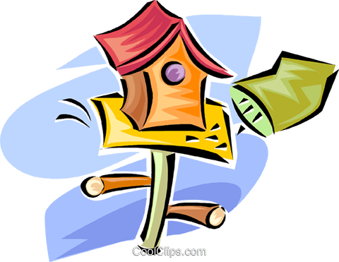 birdhouse Royalty Free Vector Clip Art illustration vc063299