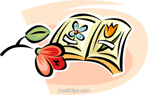 flower books Royalty Free Vector Clip Art illustration vc063311