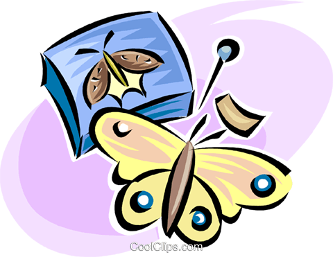 butterflies Royalty Free Vector Clip Art illustration vc063313