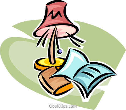 reading lamp Royalty Free Vector Clip Art illustration vc063315