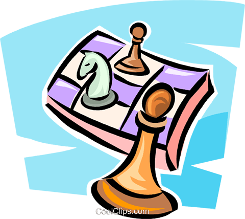 chess Royalty Free Vector Clip Art illustration vc063322