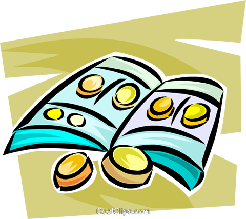 coin collections Royalty Free Vector Clip Art illustration vc063329