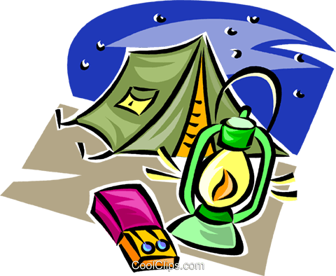 Camping Gear Royalty Free Vector Clip Art Illustration