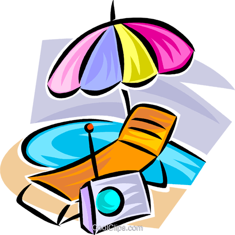 beach gear Royalty Free Vector Clip Art illustration vc063354
