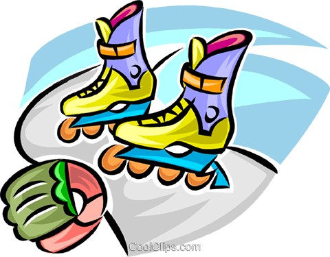roller blades Royalty Free Vector Clip Art illustration vc063359