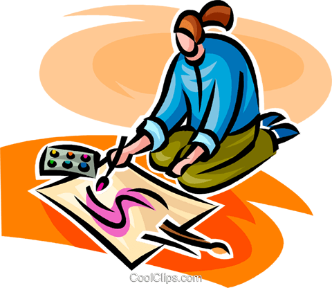 person painting Royalty Free Vector Clip Art illustration vc063362