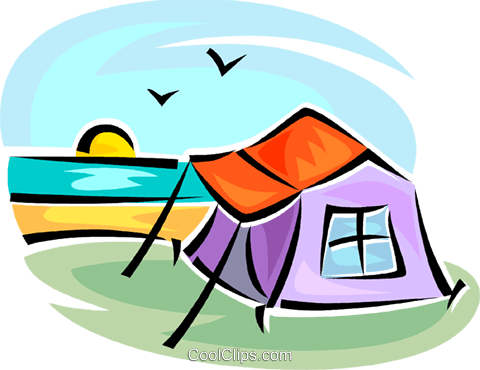 tent Royalty Free Vector Clip Art illustration vc063364
