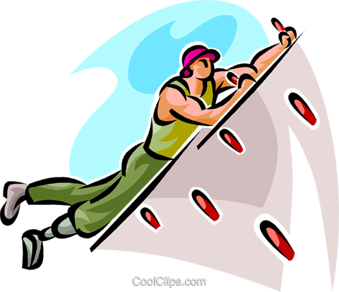 Indoor rock climbing clip art