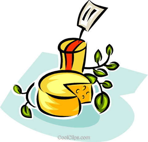 cheese for sale Royalty Free Vector Clip Art illustration vc063379