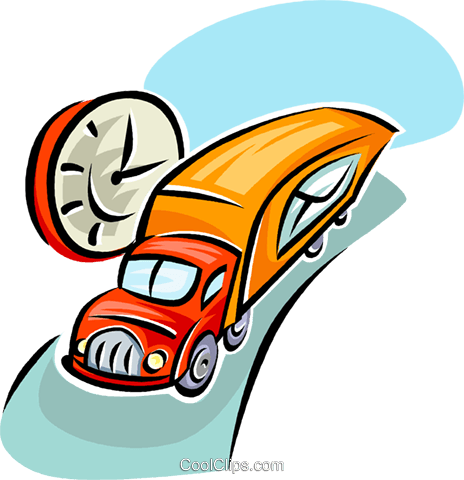 transport truck with the mail Royalty Free Vector Clip Art illustration vc063383