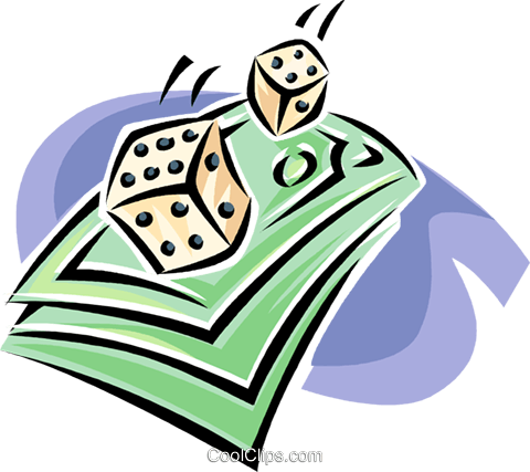 roll of the dice, risk Royalty Free Vector Clip Art illustration vc063391