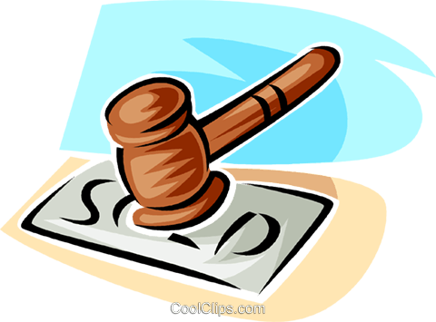 judge's gavel Royalty Free Vector Clip Art illustration vc063403