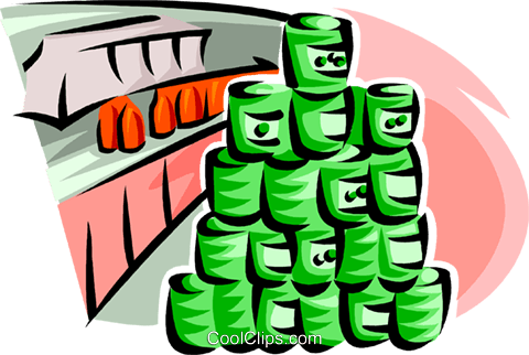 canned goods at retail store Royalty Free Vector Clip Art ...
