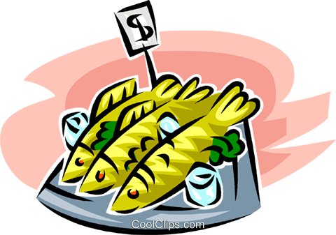 fish market Royalty Free Vector Clip Art illustration vc063409