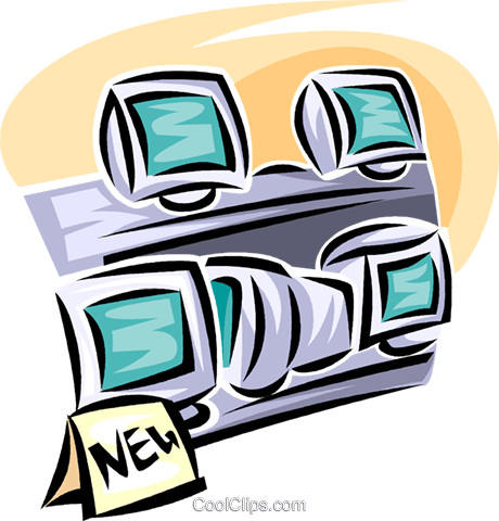 television and video retail sales Royalty Free Vector Clip Art illustration vc063429