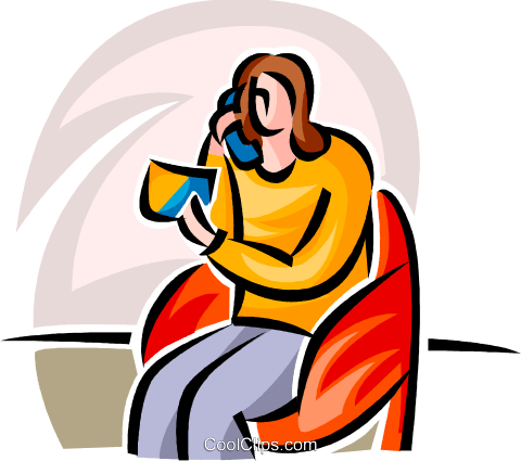 purchasing via telephone with credit Royalty Free Vector Clip Art illustration vc063437
