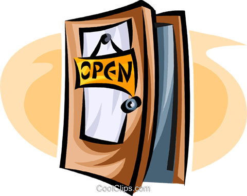 open door Royalty Free Vector Clip Art illustration vc063446