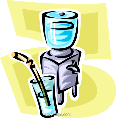 water cooler Royalty Free Vector Clip Art illustration vc063450