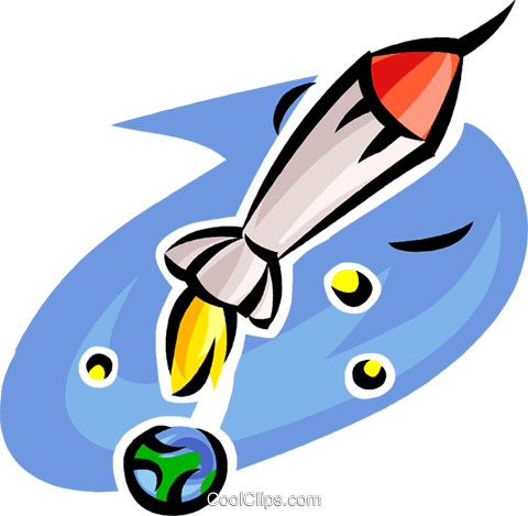 rocket Royalty Free Vector Clip Art illustration vc063479