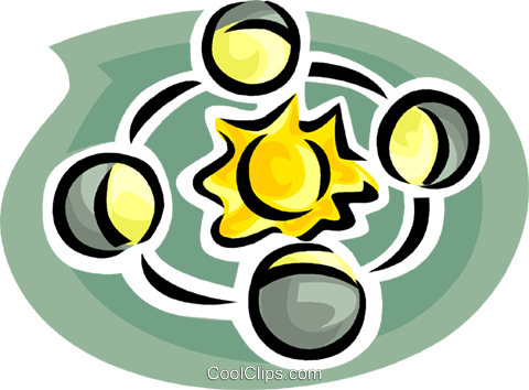 planets Royalty Free Vector Clip Art illustration vc063484