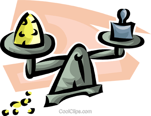 scale balancing precious metal Royalty Free Vector Clip Art illustration vc063485