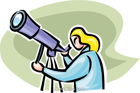 telescope Royalty Free Vector Clip Art illustration vc063486