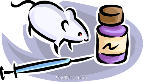 mouse with drugs Royalty Free Vector Clip Art illustration vc063493
