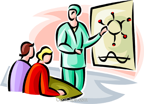 biology teacher Royalty Free Vector Clip Art illustration vc063497
