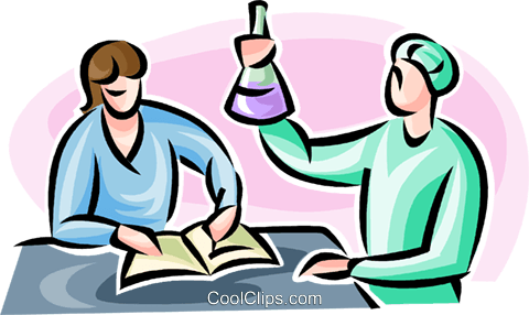 researchers Royalty Free Vector Clip Art illustration vc063499