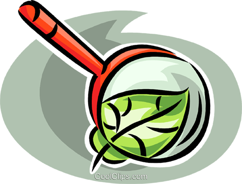 magnifying glass looking at a leaf Royalty Free Vector Clip Art illustration vc063502