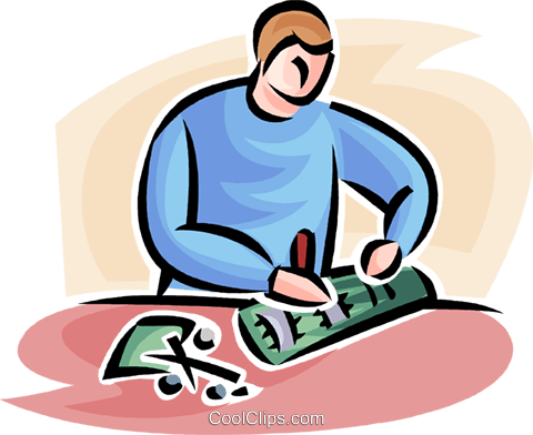 researcher Royalty Free Vector Clip Art illustration vc063513