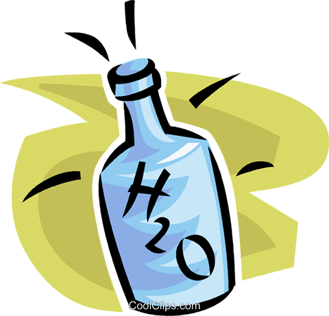 bottle of water Royalty Free Vector Clip Art illustration vc063515