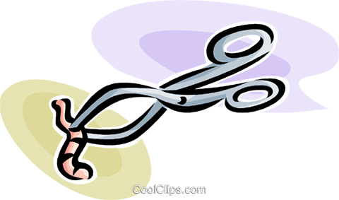 camp holding onto a worm Royalty Free Vector Clip Art illustration vc063529