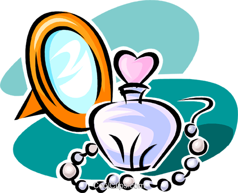perfume Royalty Free Vector Clip Art illustration vc063541