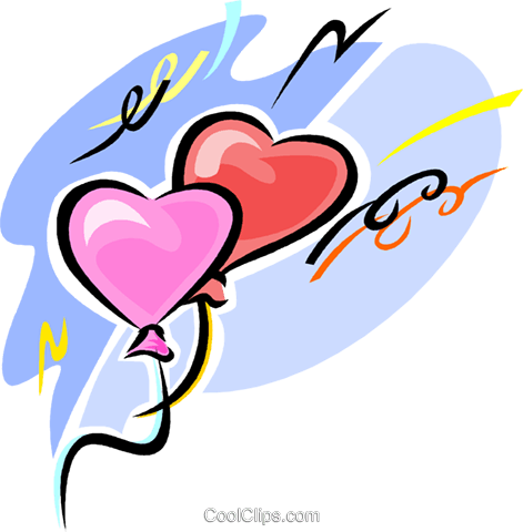 valentine balloon Royalty Free Vector Clip Art illustration vc063543