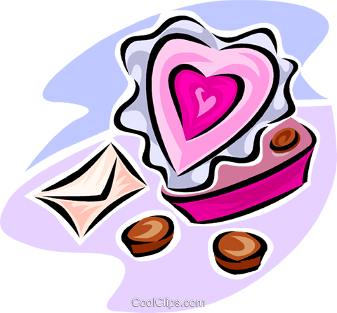 Valentine chocolates Royalty Free Vector Clip Art illustration vc063545