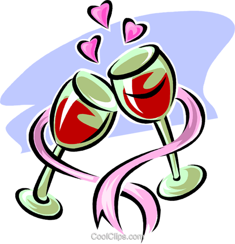 Glasses of wine Royalty Free Vector Clip Art illustration vc063546